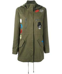 Alice + Olivia   Hooded Military Jacket Medium Cotton/Spandex/Elastane