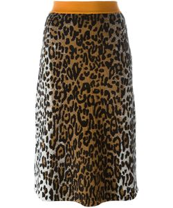 Stella Mccartney | Cheetah Print Jacquard Skirt 42 Viscose/Wool/Polyamide