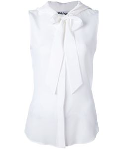 Moschino | Pussybow Sheer Blouse Womens Size 38 Silk