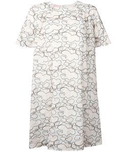 GIAMBA   Abstract Embroidery T-Shirt Dress