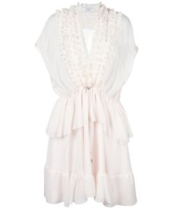 Givenchy | Ruffle Trim Sheer Panel Dress