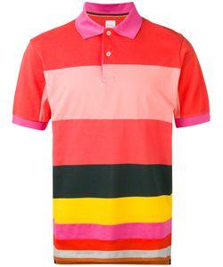 Paul Smith   Stripe Panel Polo Shirt Size Xs
