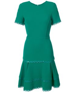 Oscar de la Renta   Расклешенное Платье С Волнистой Отделкой