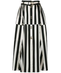Nina Ricci | Striped A-Line Midi Skirt