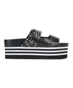 Suecomma Bonnie | Graphic Motif Platform Sandals