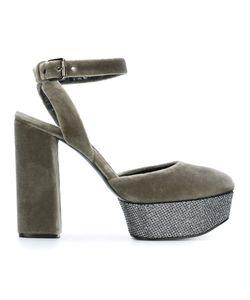 Casadei | Velvet Sling Back Sandals