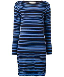 Michael Michael Kors | Striped Dress Large Polyester/Spandex/Elastane