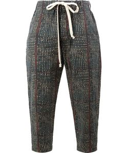 UMA WANG | Printed Drawstring Trousers Small Cotton