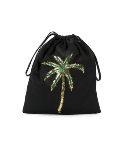 ATTICO | Satin Pouch With Sequin Embellished Palm Tree