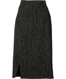 PROTAGONIST | Striped Pencil Skirt 8 Cotton/Viscose