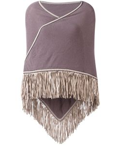 ANTONIA ZANDER | Fringed Trim Cape Cashmere