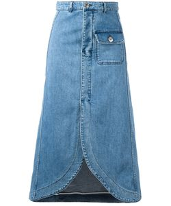 See By Chloe | See By Chloé Curved Hem Denim Skirt 38