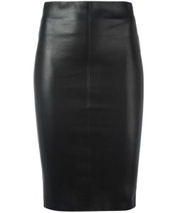 Jitrois | Leather Pencil Skirt 40 Leather/Cotton