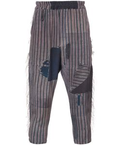 BY WALID | Ripped Striped Culottes Men