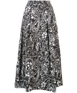 Oscar de la Renta   Paisley Midi Skirt Size 4