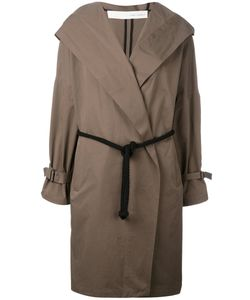 Isabel Benenato | Belted Hooded Coat 44
