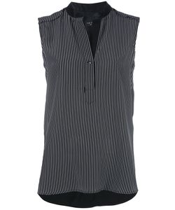 Rag & Bone | Striped Sleeveless Blouse Small Silk