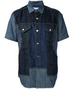 ganryu | Panelled Denim Shirt