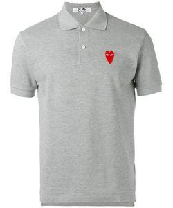 Comme des Gar ons Play | Comme Des Garçons Play Elongated Heart Polo Shirt Size Xl