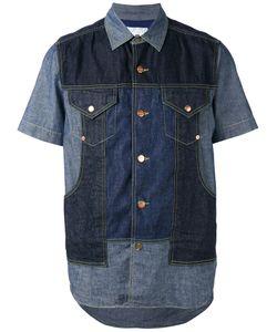 GANRYU COMME DES GARCONS | Джинсовая Рубашка С Панельным Дизайном