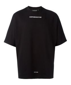 Icosae | Embroidered Text T-Shirt Xs