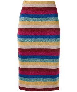 Laneus | Striped Lurex Skirt 38