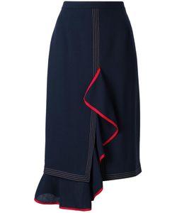 Marco De Vincenzo | Draped Skirt 46 Acetate/Viscose/Wool