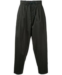 KAZUYUKI KUMAGAI | Drawstring Drop-Crotch Cropped Trousers