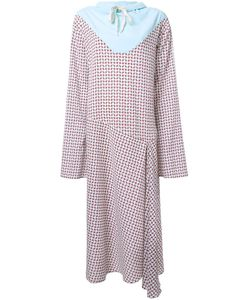 N Duo | Houndstooth Drawstring Neck Dress