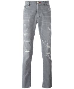 Philipp Plein | Distressed Jeans 31 Cotton/Spandex/Elastane/Polyester