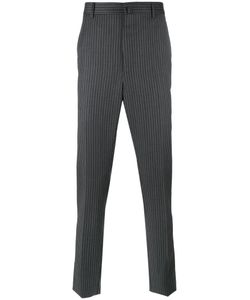 Lanvin | Top Stitched Striped Trousers 50 Wool
