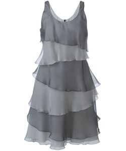 Armani Collezioni | Ruffled Laye Dress 44 Silk/Polyester