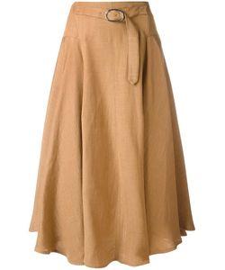 SportMax | Buckle Detail Skirt 40 Viscose/Linen/Flax/Polyester
