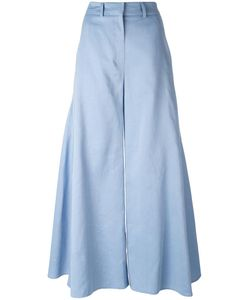 Peter Pilotto | Fla Godet Trousers 8 Cotton/Linen/Flax