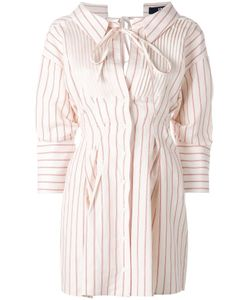 JACQUEMUS | Striped Shirt Dress 38 Cotton/Linen/Flax