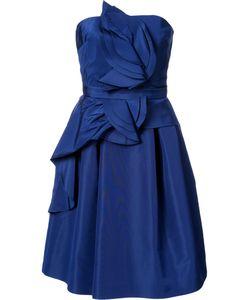 Carolina Herrera | Расклешенное Платье С Оборками Без Рукавов