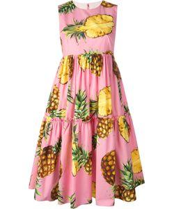 Dolce & Gabbana | Pineapple Print Dress 40 Cotton