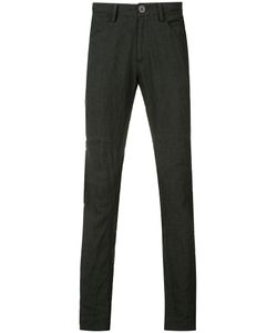 ZIGGY CHEN | Creased Effect Trousers 52 Linen/Flax/Cotton