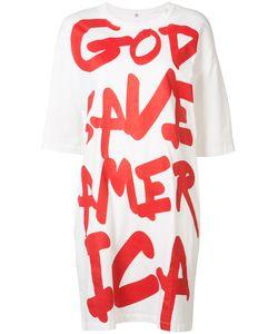 R13   God Save America T-Shirt Dress Size Medium