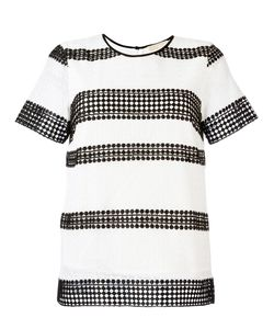 Michael Michael Kors | Stripe Panel T-Shirt Size Large