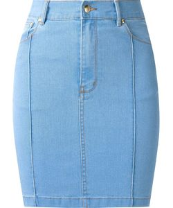 Amapô | High Waist Fitted Denim Skirt