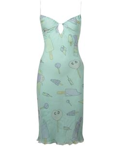 Christian Dior Vintage | Платье На Бретелях С Принтом Конфет И Мороженого