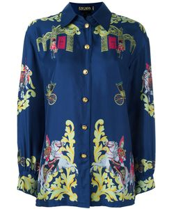 ESCADA VINTAGE | Royal Army Printed Shirt