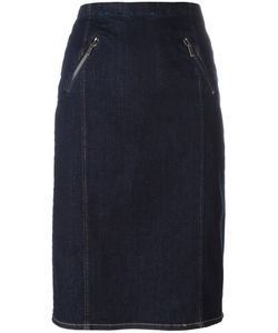 Polo Ralph Lauren | Midi Straight Skirt 8 Cotton/Spandex/Elastane