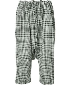 Forme D'Expression | Gingham Drop-Crotch Cropped Trousers