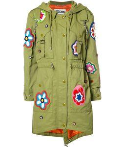 Moschino | Flower Patch Fishtail Jacket 40 Rayon/Cotton/Polyamide