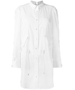 Sacai | Lace Insert Shirt Dress