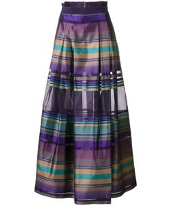 Alberta Ferretti | Flared Striped Skirt