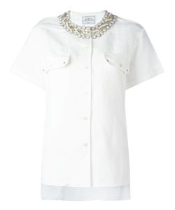 FORTE COUTURE | Studded Collar Shirt Large Cotton
