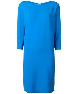 Missoni | Three-Quarters Sleeve Shift Dress 44 Acetate/Silk